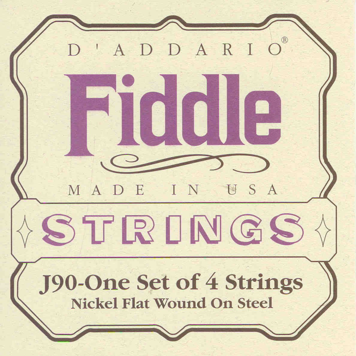 Fiddle Violin Strings (D'Addario)