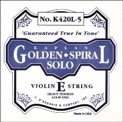 Golden Spiral Violin Strings (D'Addario)